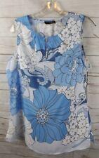 New Crosby Sleeveless Top Medium Blue Floral