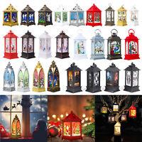 LED Photophore Bougies Noël Décoration Accueil Pendante Lanterne Ornements Lampe