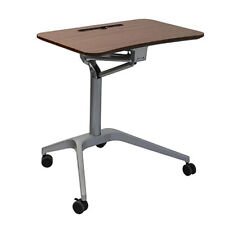 New listing Mobile Computer Laptop Stand Up Desk Height Adjustable Rolling Lift Home Office