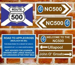 NC500 North Coast 500 Metal UK Road sign - Choice of 4 designs Vanlife