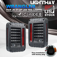 07-17 Jeep Wrangler JK LED Tail Lights Reverse Brake Turn Signal Rear Lamps SAE