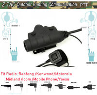 Z-TAC Tactical zU94 PTT NEW Version 2 switch control For Anti Noise headset