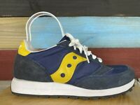 Saucony Jazz Original Black/Yellow/Blue Running Shoes Women 8.5 Men 7