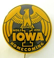 "scare 1941 UNIVERSITY OF IOWA HOMECOMING football 1.75"" pinback button ^"