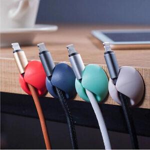 ORGANIZADOR DE CABLES USB, SOPORTE AURICULARES, CLIP TELEFONO, USB CABLE