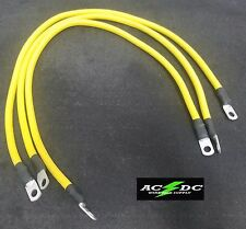 "Club Car Precedent Golf Cart -Battery Cable Set 4 GAUGE  (3 - 26"" YELLOW)"
