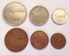 6 x Different IRELAND COINS Job Lot Bundle Set Currency Harp Irish Eire Pence P