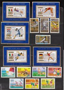 *** OLYMPICS *** = 5 Matching Souvenir Sheet Set & 2 Complete Sets