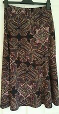 New With Tags!Marks & Spencer Purple Paisley long skirt Size 8