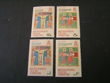 BRITISH INDIAN OCEAN TERRITORY, SCOTT # 50-53(4),1972 EASTER ISSUE MVLH