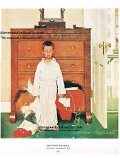 "Norman Rockwell print ""DISCOVERING SANTA'S SECRET"" / BOTTOM DRAWER Bad Santa"