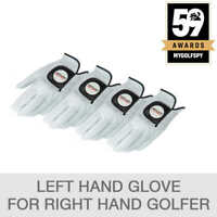 Kirkland Signature Premium Leather Golf Glove for Right Handed Golfer- Pack of 4