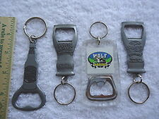 "Set Of 4 Key Chains,3 Sam Adams,1,Timber Wolf Racing "" AWESOME COLLECTABLE LOT """