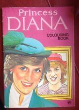 Princess Diana Coloring Book Softcover Rare