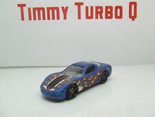 Hot Wheels 1997 Corvette en azul y llamas 1:64 80 mm de largo