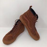 Vans Pro Classics Unisex Sk8 Hi Skate Shoes Brown 721454 Sneakers M 6.5 W 8