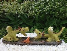 Miniature Dollhouse FAIRY GARDEN Dragon ~ Mini Dragons Playing Figurine ~ NEW