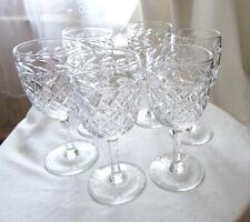 Set of 6 vintage lead crystal cut glass port sherry glasses 125 ml