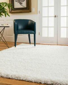 8x10 Isla Ivory Fluffy Floor High Pile Shag Area Throw Rug Carpet