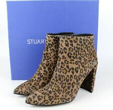 NEW Stuart Weitzman Pure Pointy Toe Leopard Bootie, CAMCHS, US 8.5