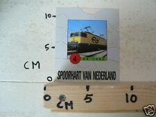 STICKER,DECAL NS DE 1300 TREIN NO 4 SPOORHART VAN NEDERLAND