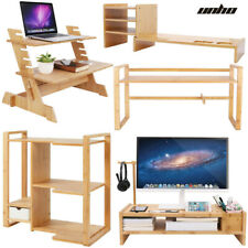 More details for intergrated computer laptop riser rack work helper stand organizer book shelf uk