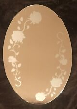 RARE Vintage Oval Glass Wall Mirror No Frame W DESIGN