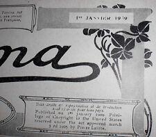 Livre ancien: Femina - année 1909 à saisir poids 4,500  kgs publi pierre lafitte