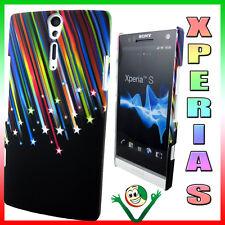 Custodia rigida STARS per Sony XPERIA S LT26i back cover rigida gommata nera