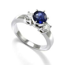 Sapphire and Diamond Engagement Ring  in 950 Platinum