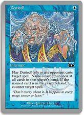 Denied! X4 EX/NM Unglued MTG Magic Cards Blue Common