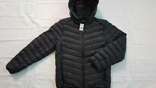 NEW TUMI MEN'S QUILTED PUFF PACKABLE LIGHTWEIGHT BLACK JACKET W/HOODED SIZE S