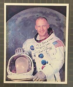 Buzz Aldrin Signed 8x10 Photo Autographed + Inscription JSA LOA NASA Astronaut
