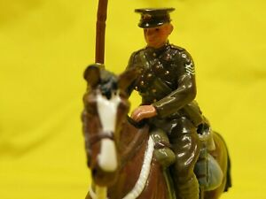 W BRITAIN 41108 BRITISH LANCER 1914 TOY SOLDIER & HORSE ~ MINTY               16