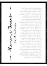 Personalised Song Lyrics Wedding First Dance Print Anniversary Gift Wall Art