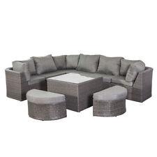 Sets de muebles de jardín de color principal gris de aluminio
