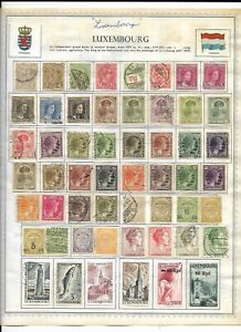 Luxembourg 4 Pages Unpicked Lots of Stamps
