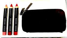 Bobbi Brown Art Stick Trio, Pomegranate, Rose Brown, Dusty Pink, Sharpener + Bag