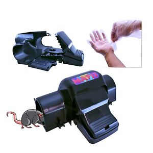 MAVIT 2X Dual Entry Rat Traps, Mouse Traps, Pair Of Gloves, Child And Dog safe
