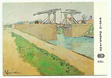 Radio Netherlands QSL card 1984, The Drawbridge painting by Vincent Van Goch