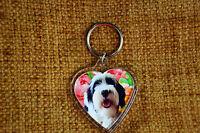 Tibetan Terrier Gift Keyring Dog Key Ring heart Birthday Gift Mothers Day Gift