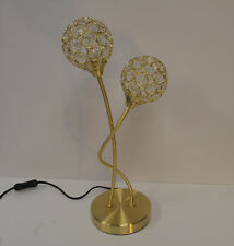 Table Lamp Vase Style White Silvered Metal Ivy Leaf 40watt or LED
