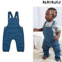 Baby Denim Dungarees (BZ56) - Babybugz Baby Rocks Y-shaped Toddler Cotton Jeans