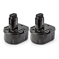 Battery Best Replacement for Dewalt Ni-Cd Models 12 Volts 1500 mAh Black 2 Pack