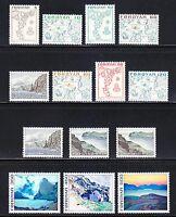 Faroe Islands 1975 MNH Mi 7-20 Sc 7-20 Landscapes,mountains,map on stamps