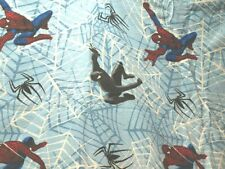 Spider-man 3 Twin Flat Sheet 2007 Flannel Blue Fabric Material Craft