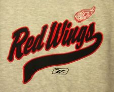 DETROIT RED WINGS hockey lrg hooded sweatshirt NHL hoodie Reebok collegiate