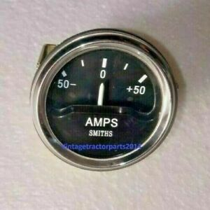 """Smiths Ancillary Battery Charge Ammeter Gauge Chrome Rim 52mm 2"""""""