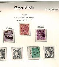 1867 1868 victoria used stamps wtm spray de roses cat £ 340