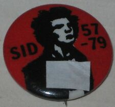 "Sex Pistols Sid Vicious ""Sid 1957 - 1979"" Pin Approx 7/8"""